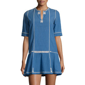 Isabel Marant Relly Blue Embroidered Dress 44
